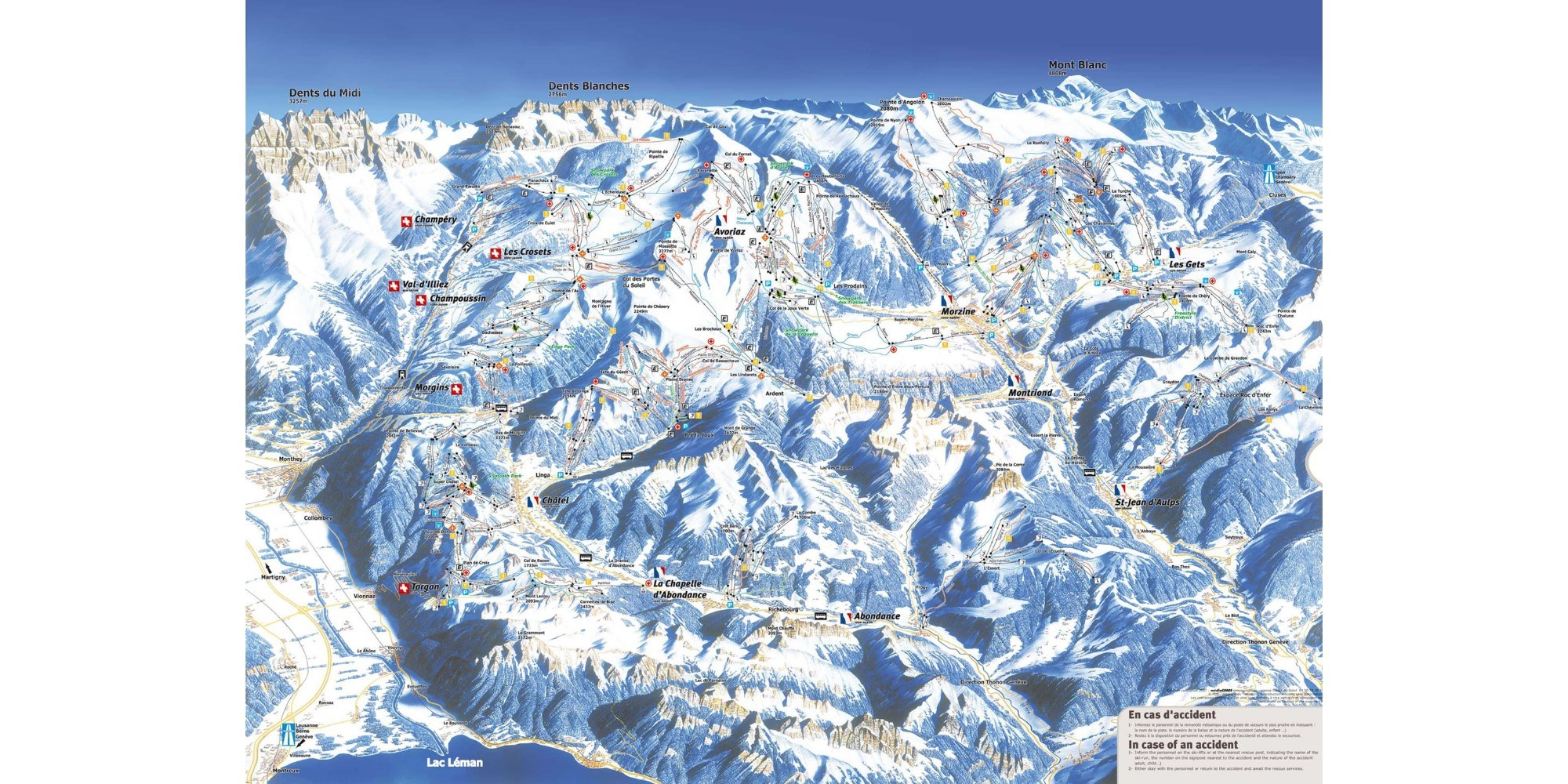 Piste map for Morzine