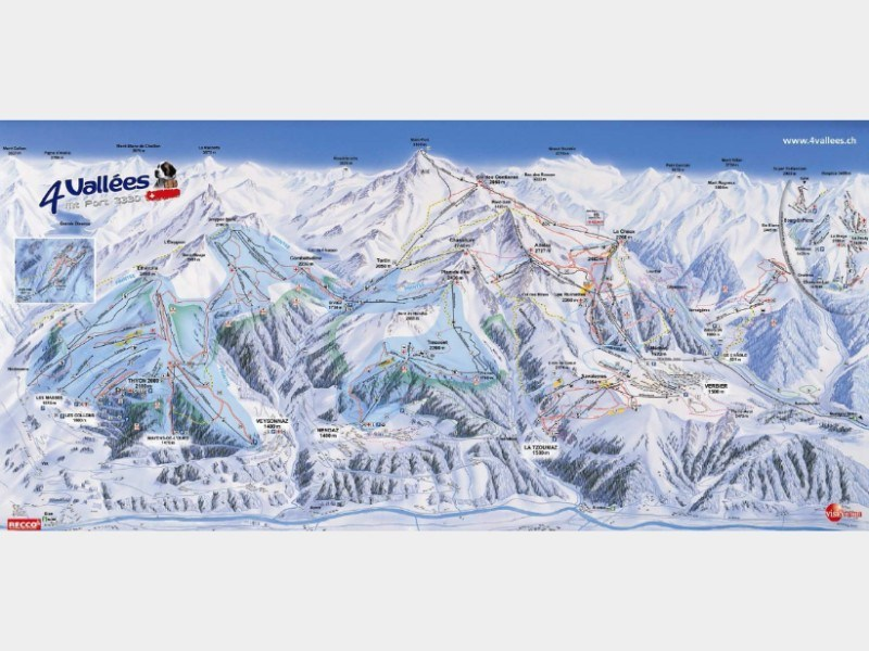 Piste map for Verbier