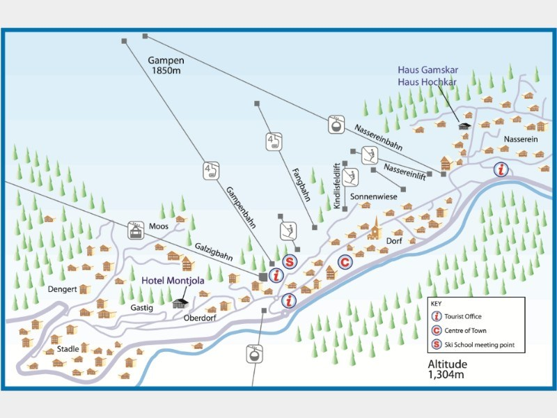 Resort map for St Anton