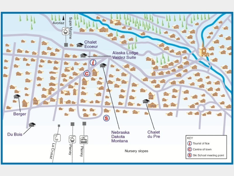 Resort map for Morzine