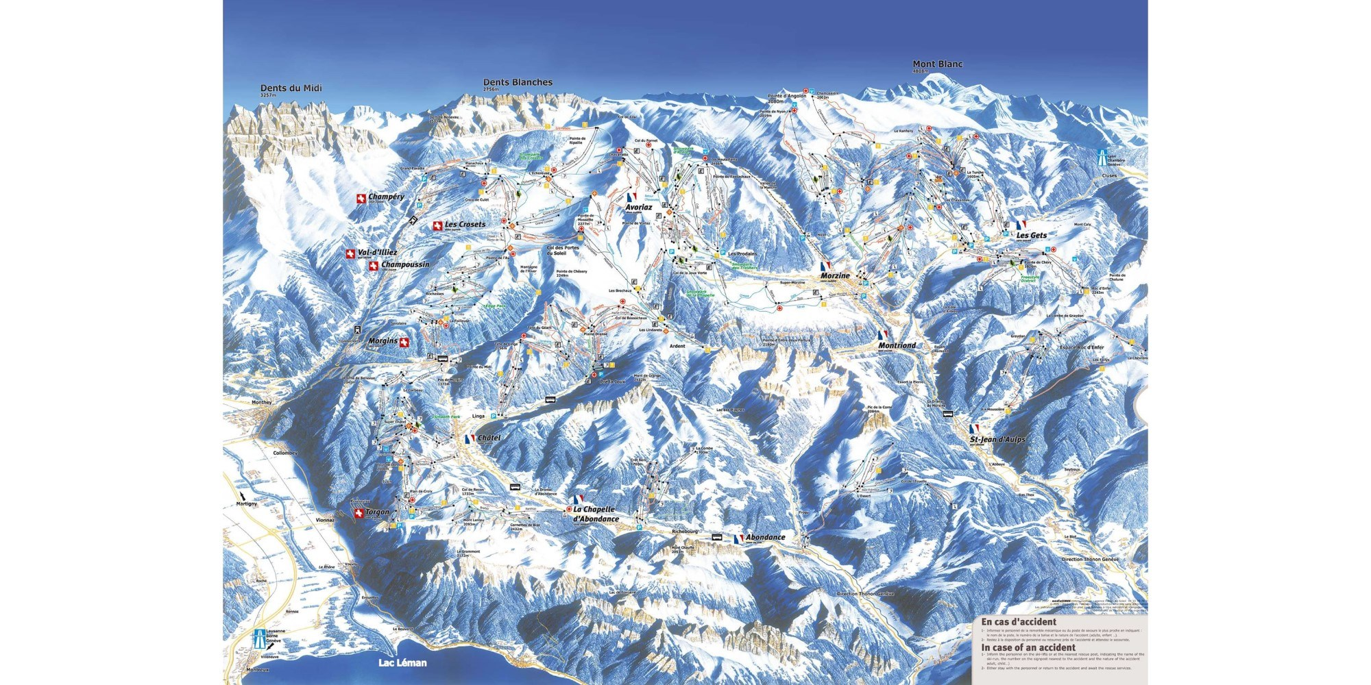 Piste map for Avoriaz