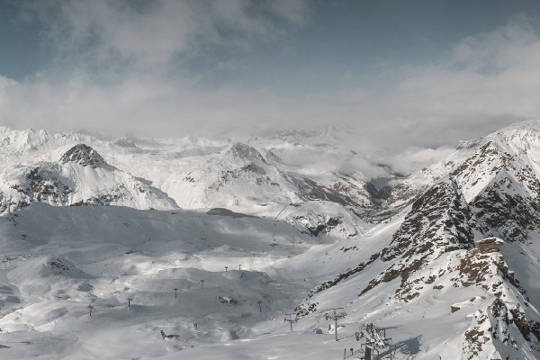 snowy landscape in val d'isere