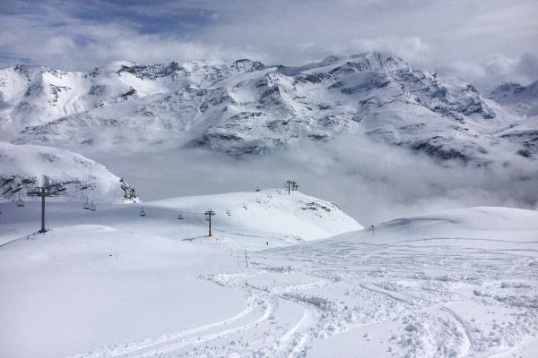 cloudy day in Val d'isere