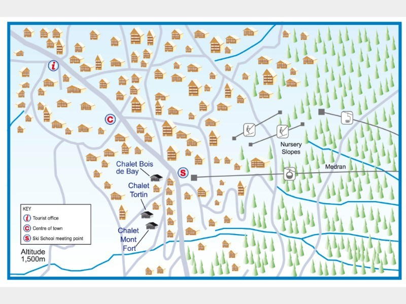 Resort map for Verbier