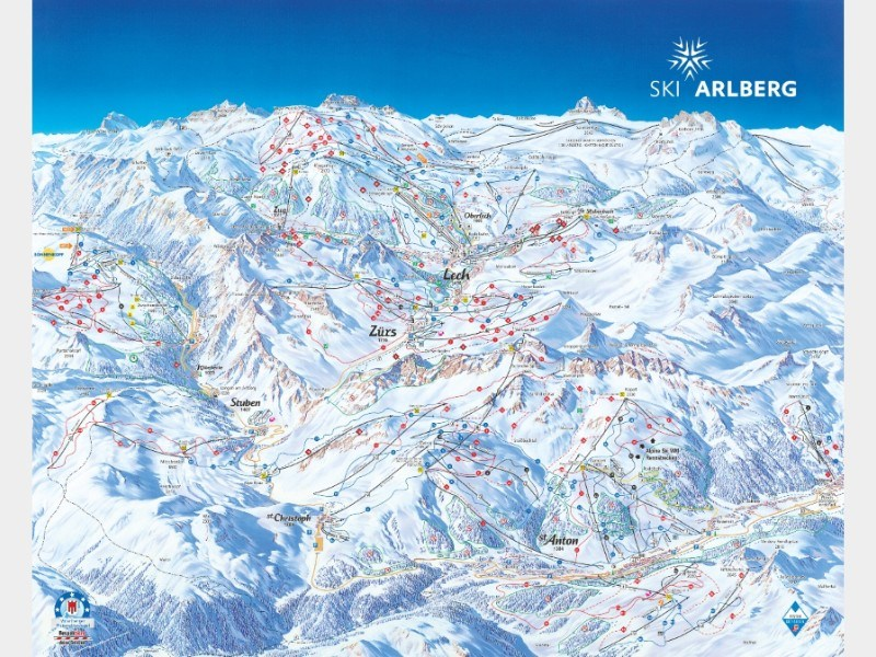 Piste map for St Anton